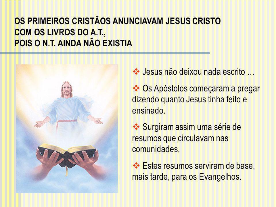 OS PRIMEIROS CRISTÃOS ANUNCIAVAM JESUS CRISTO COM OS LIVROS DO A. T