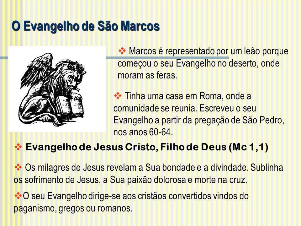 Evangelho de Jesus Cristo, Filho de Deus (Mc 1,1)