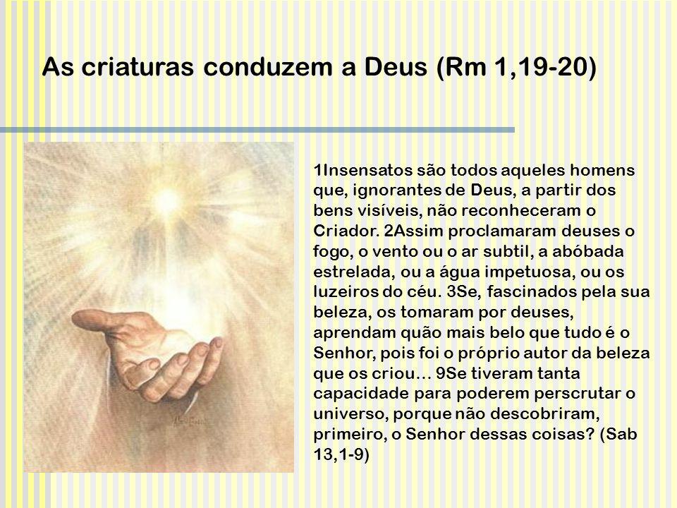As criaturas conduzem a Deus (Rm 1,19-20)