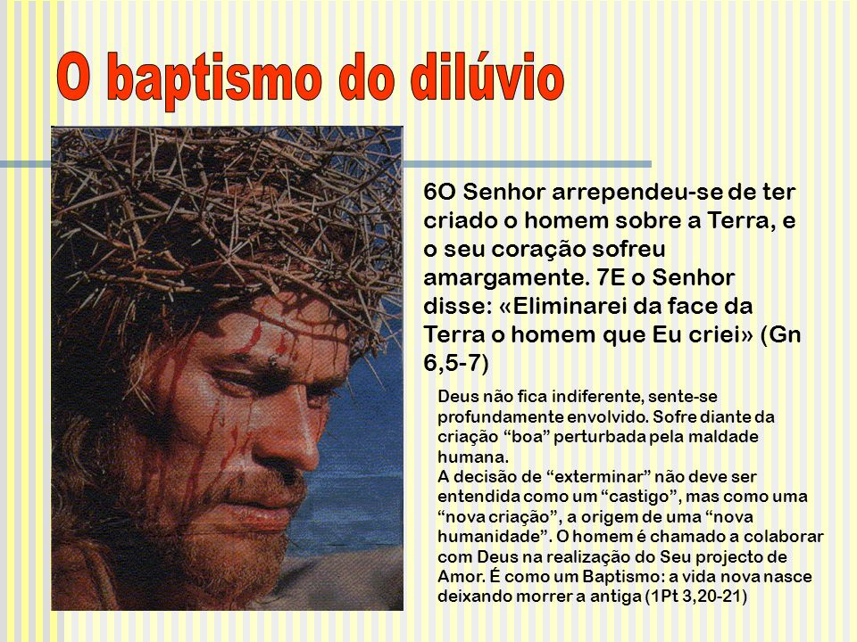 O baptismo do dilúvio
