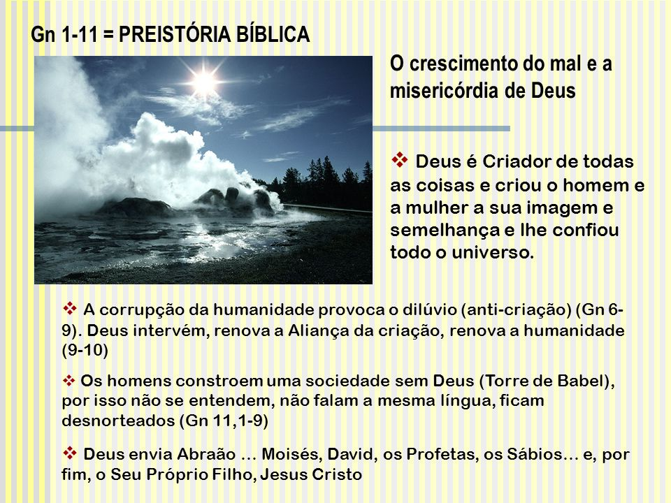Gn 1-11 = PREISTÓRIA BÍBLICA