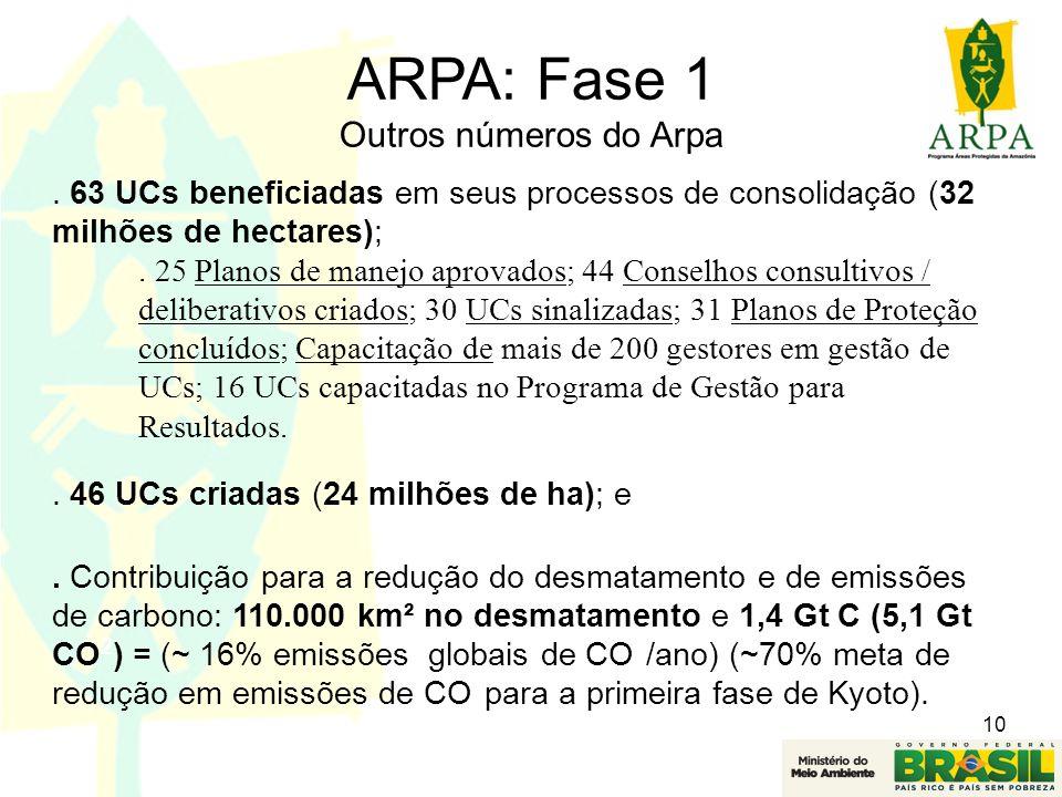 ARPA: Fase 1 Outros números do Arpa
