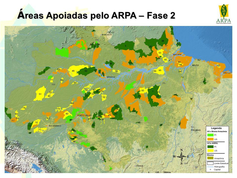 Áreas Apoiadas pelo ARPA – Fase 2