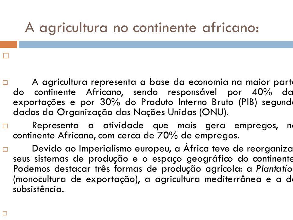 A agricultura no continente africano: