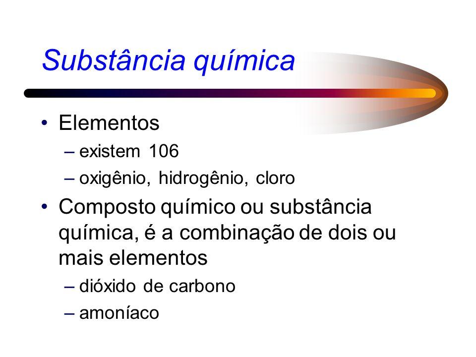 Substância química Elementos