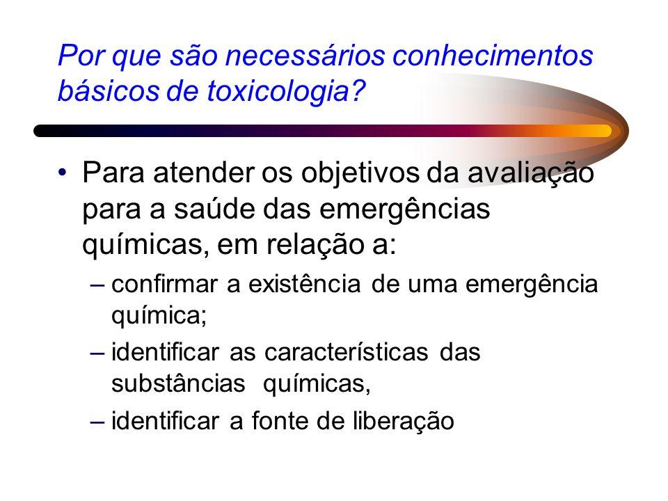 Por que são necessários conhecimentos básicos de toxicologia