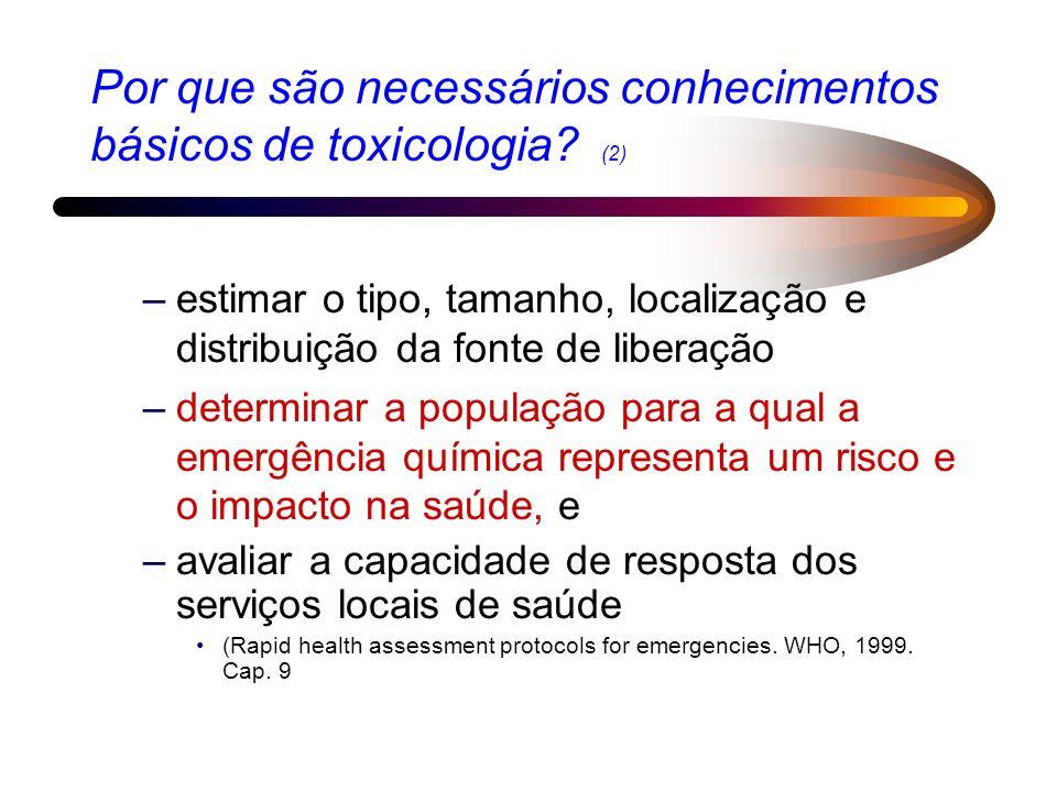 Por que são necessários conhecimentos básicos de toxicologia (2)