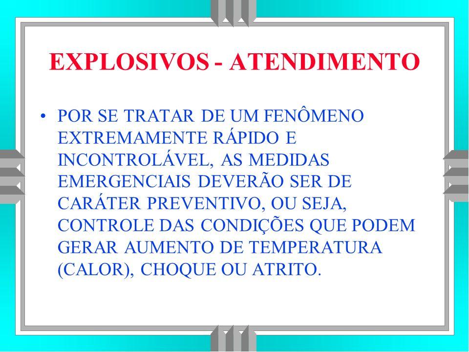 EXPLOSIVOS - ATENDIMENTO