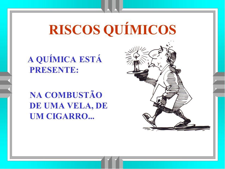 RISCOS QUÍMICOS A QUÍMICA ESTÁ PRESENTE: