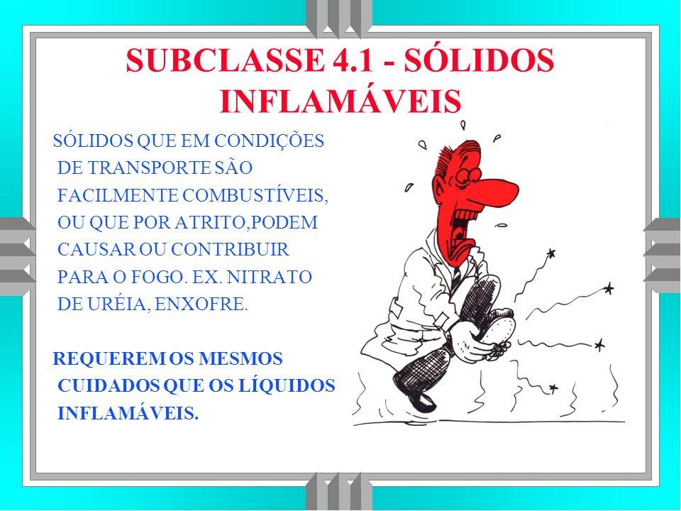SUBCLASSE 4.1 - SÓLIDOS INFLAMÁVEIS