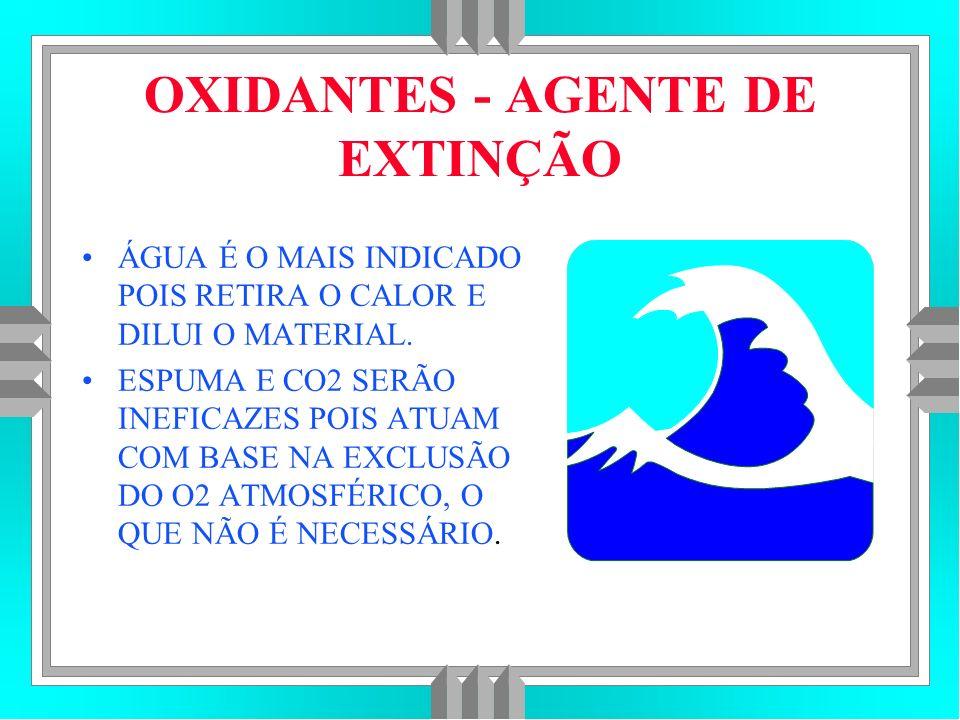 OXIDANTES - AGENTE DE EXTINÇÃO