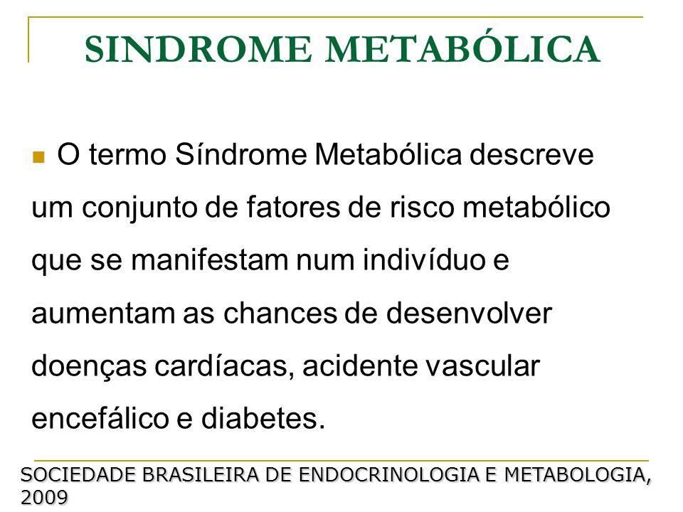 SINDROME METABÓLICA O termo Síndrome Metabólica descreve