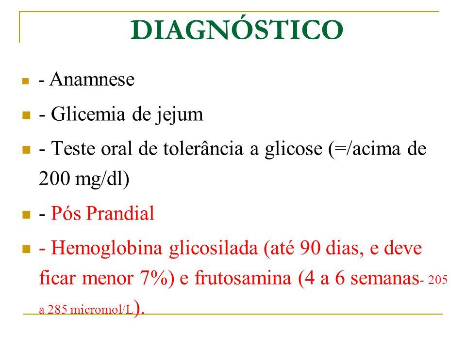 DIAGNÓSTICO - Glicemia de jejum