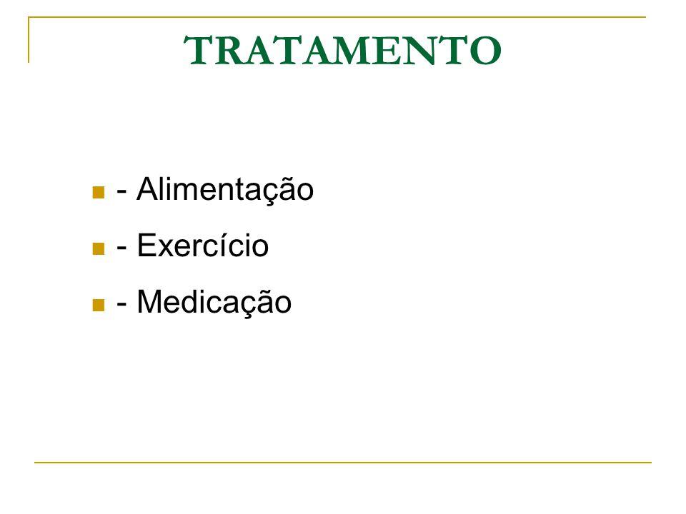TRATAMENTO - Alimentação - Exercício - Medicação