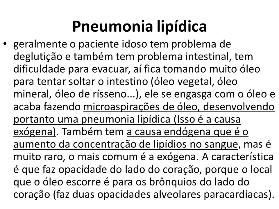 Pneumonia lipídica