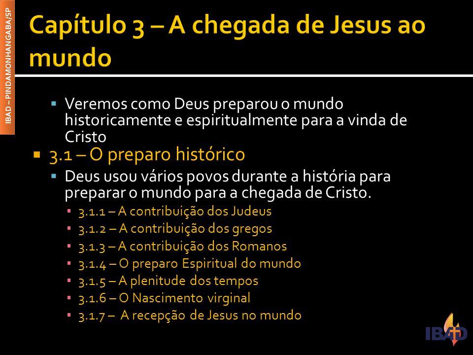 Capítulo 3 – A chegada de Jesus ao mundo