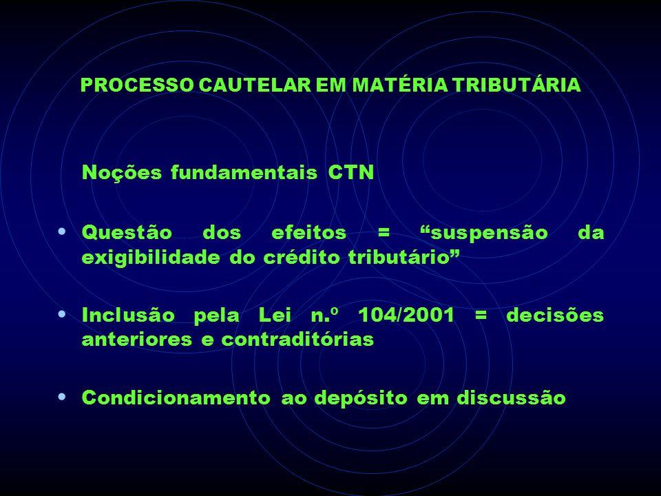Processo Cautelar em Matéria Tributária