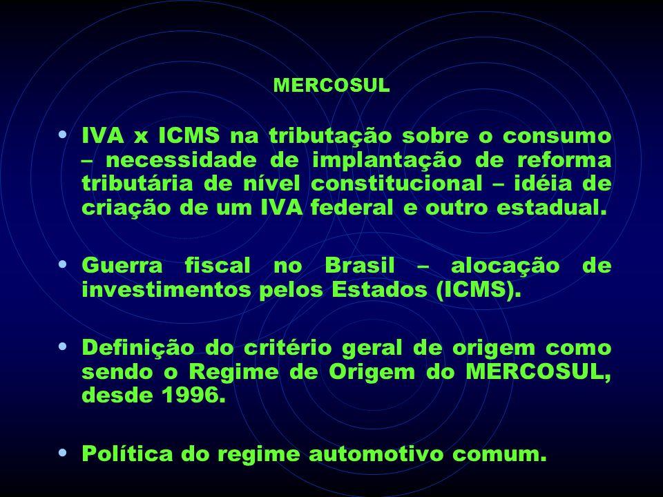 Política do regime automotivo comum.