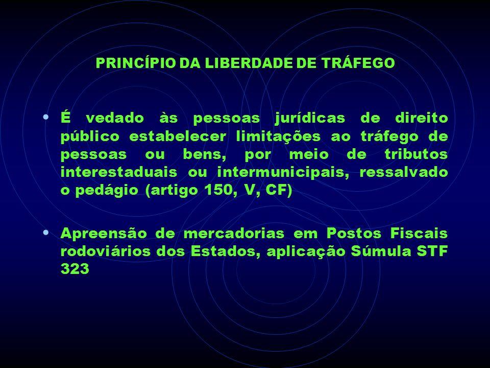 PRINCÍPIO DA LIBERDADE DE TRÁFEGO