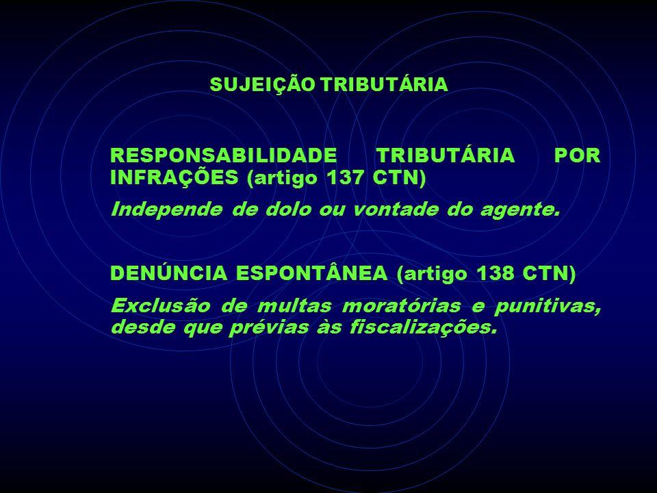 RESPONSABILIDADE TRIBUTÁRIA POR INFRAÇÕES (artigo 137 CTN)