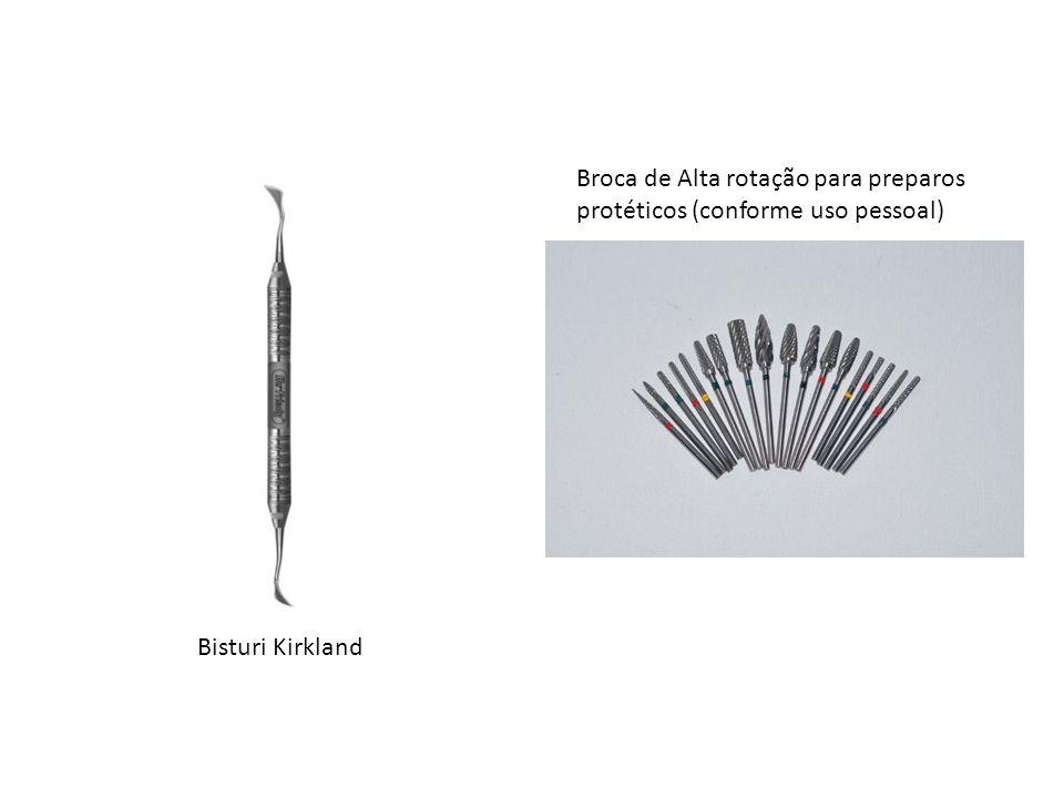 Broca de Alta rotação para preparos protéticos (conforme uso pessoal)