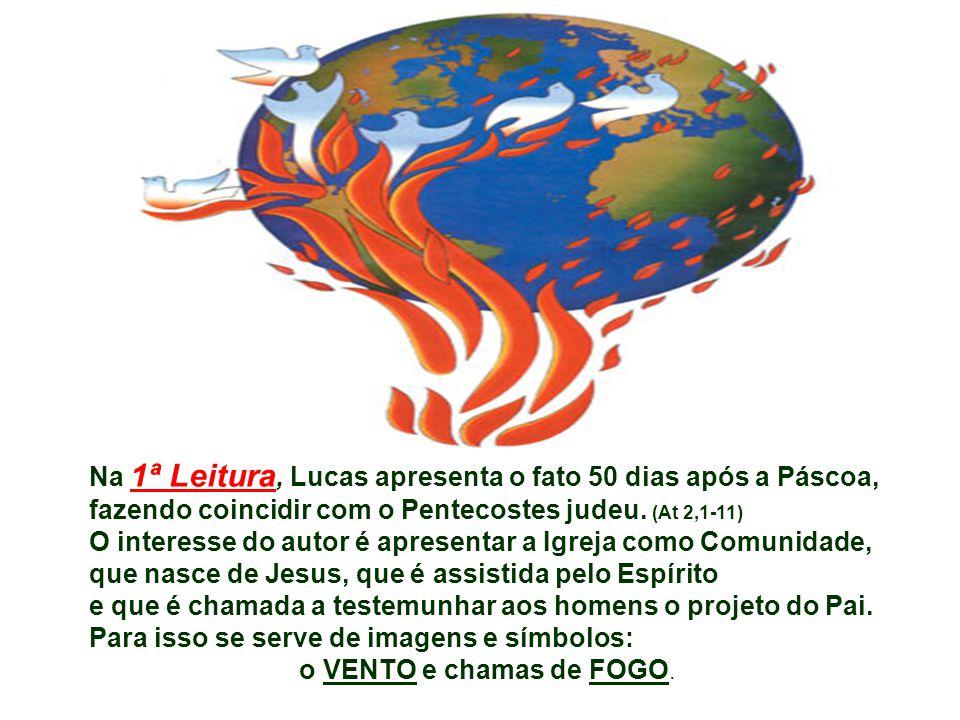 Na 1ª Leitura, Lucas apresenta o fato 50 dias após a Páscoa,