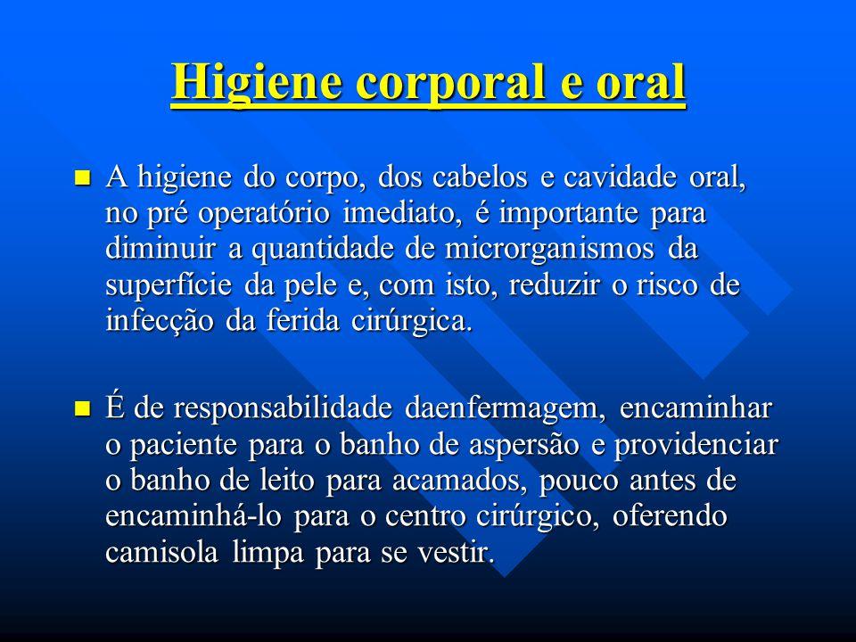 Higiene corporal e oral