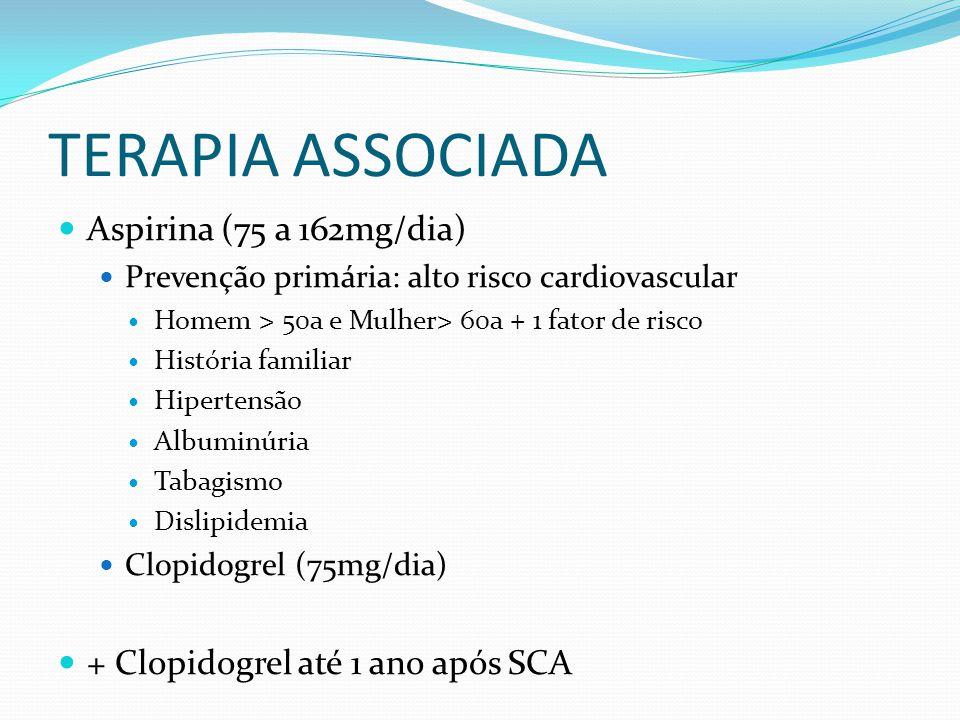 TERAPIA ASSOCIADA Aspirina (75 a 162mg/dia)