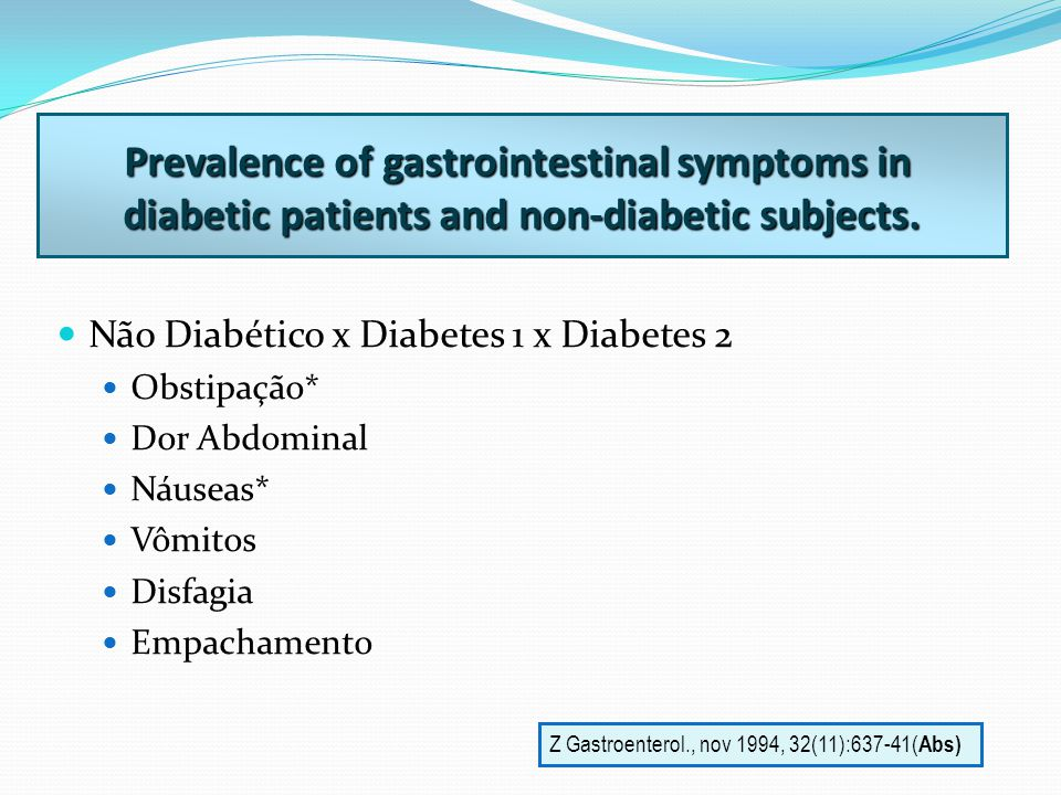 Prevalence of gastrointestinal symptoms in