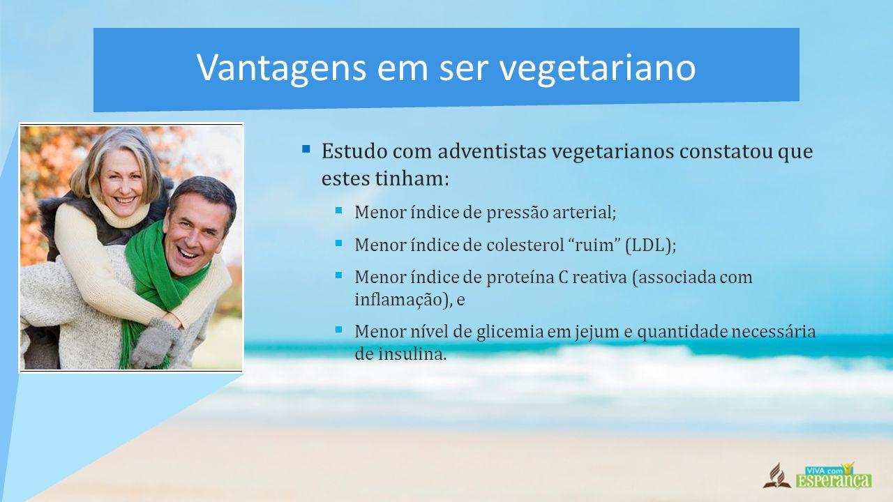 Vantagens em ser vegetariano