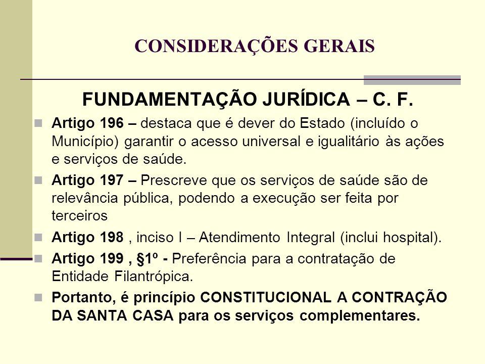 FUNDAMENTAÇÃO JURÍDICA – C. F.