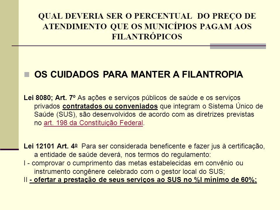 OS CUIDADOS PARA MANTER A FILANTROPIA
