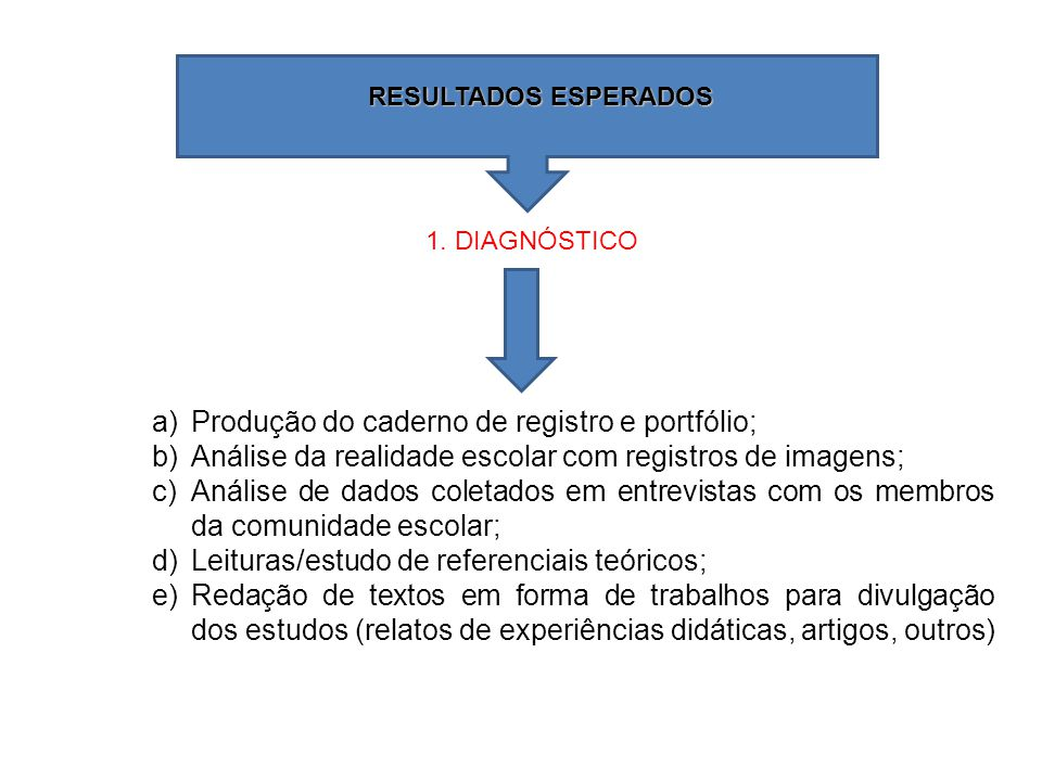 Produção do caderno de registro e portfólio;