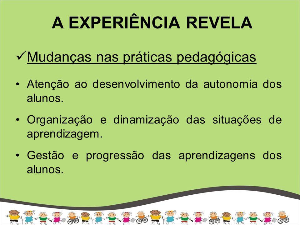 A EXPERIÊNCIA REVELA Mudanças nas práticas pedagógicas