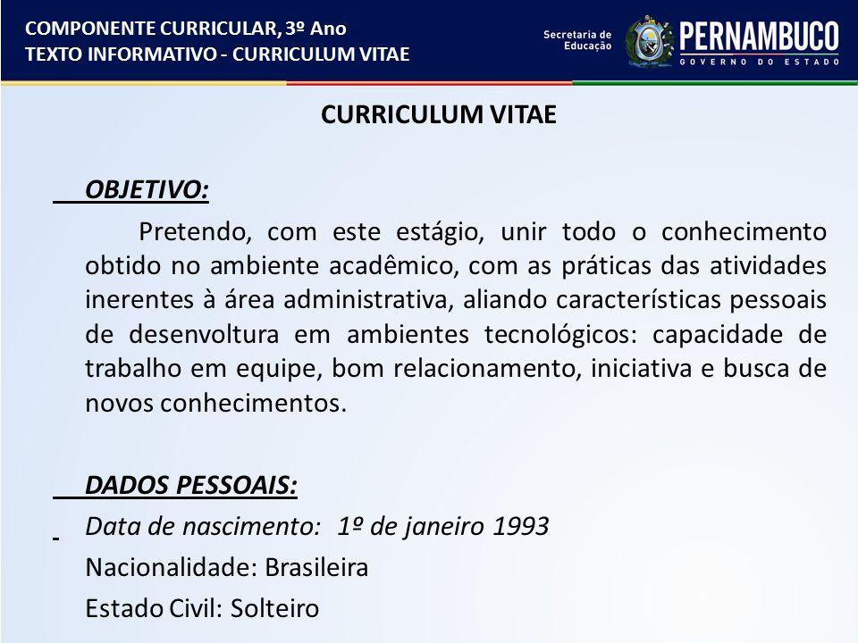 Atractivo Objetivo De Curriculum Vita Motivo - Ideas De Ejemplo De ...