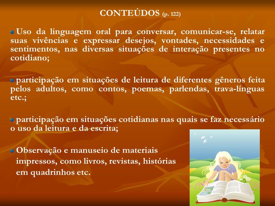 CONTEÚDOS (p. 122)