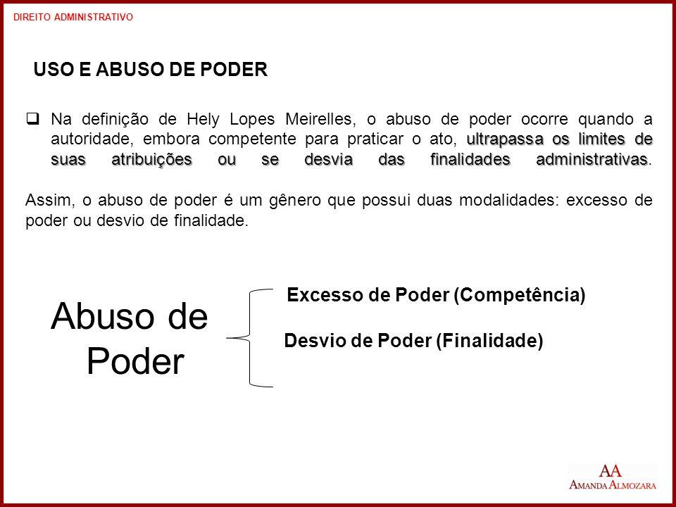 Abuso de Poder USO E ABUSO DE PODER Excesso de Poder (Competência)