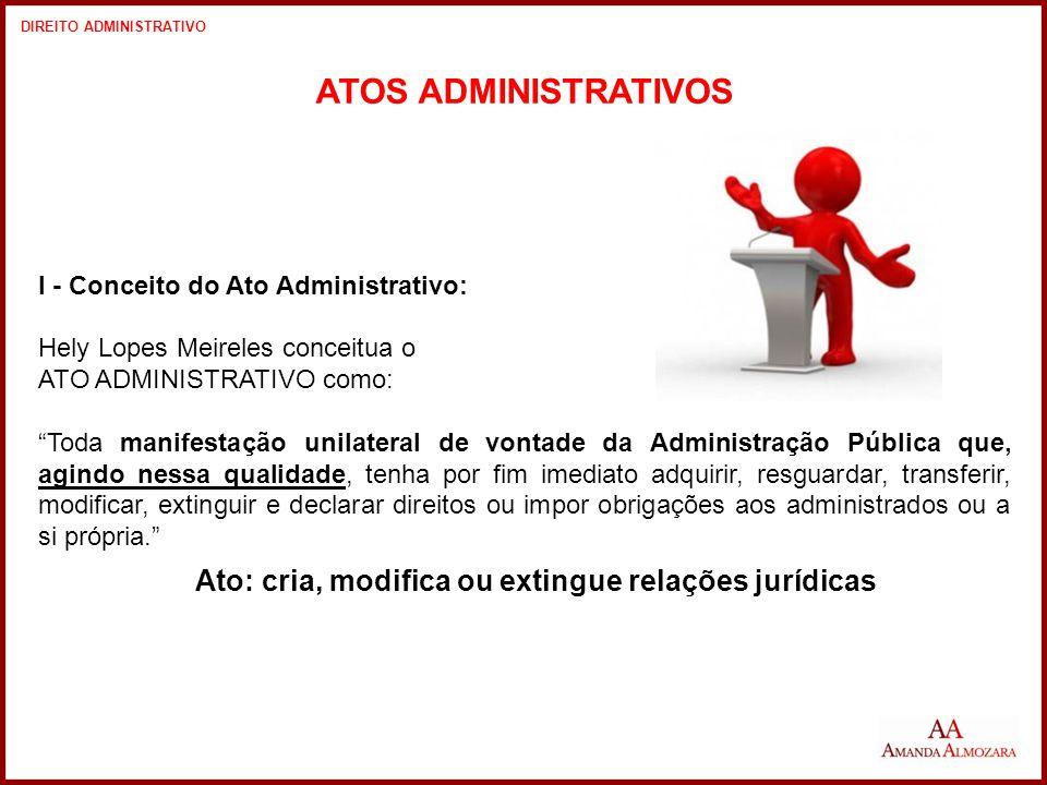Ato: cria, modifica ou extingue relações jurídicas
