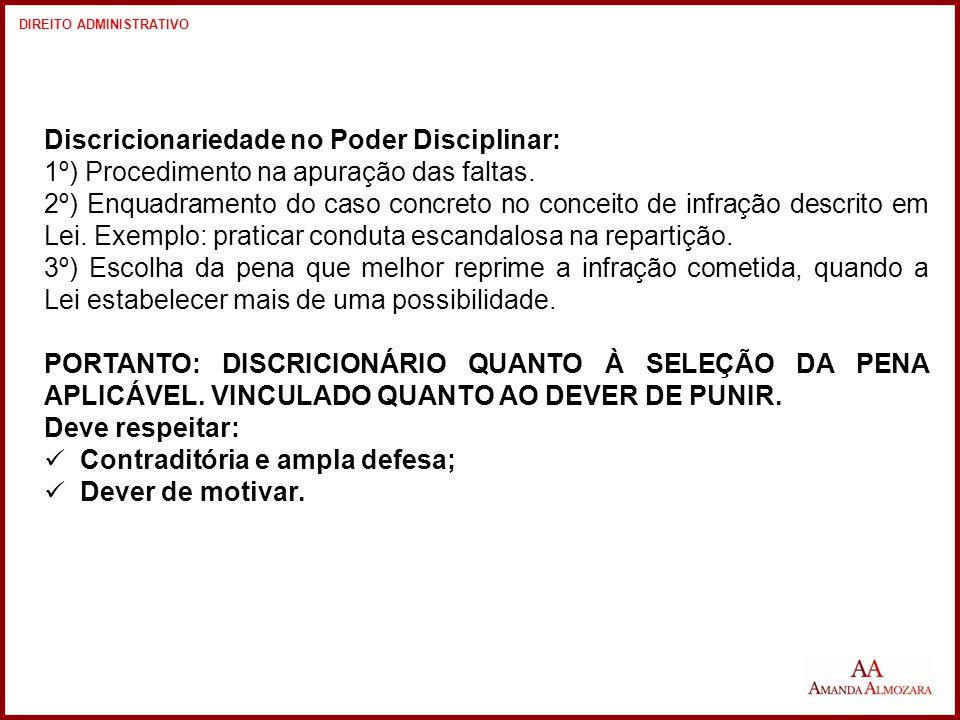 Discricionariedade no Poder Disciplinar: