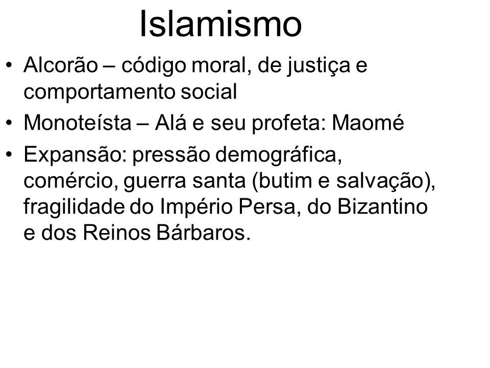 Islamismo Alcorão – código moral, de justiça e comportamento social