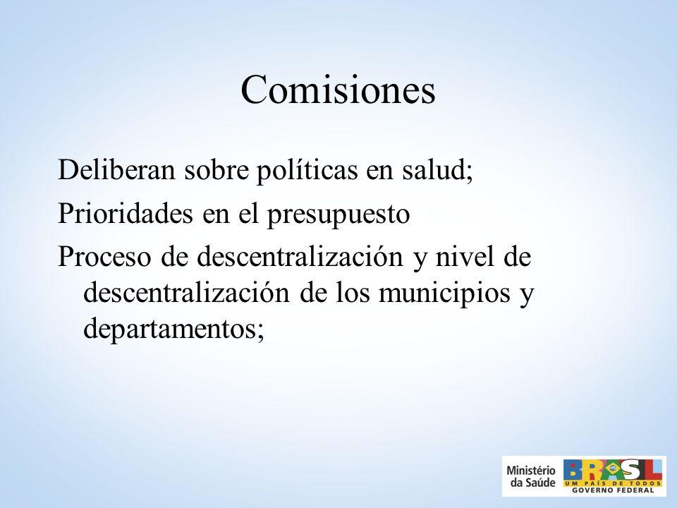 Comisiones Deliberan sobre políticas en salud;