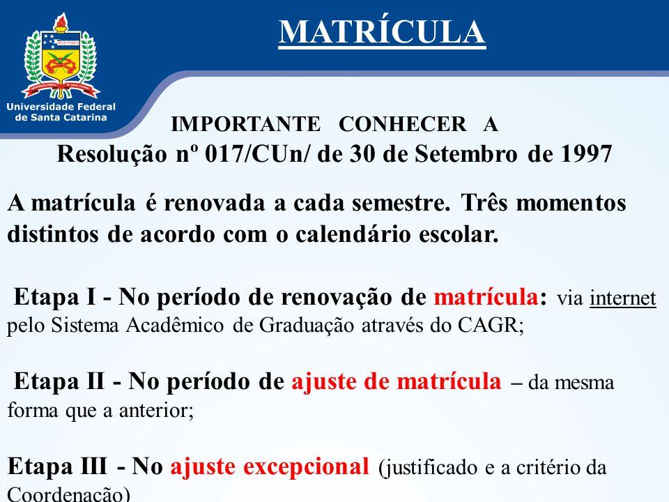 Resolução nº 017/CUn/ de 30 de Setembro de 1997