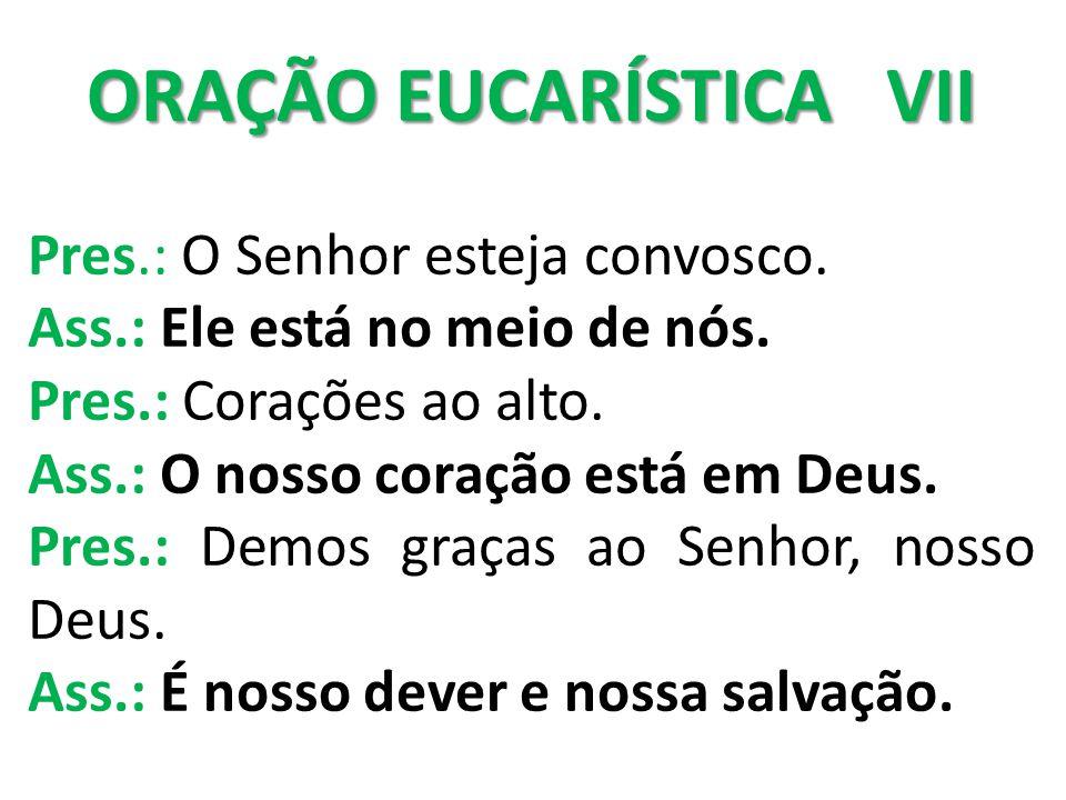 ORAÇÃO EUCARÍSTICA VII