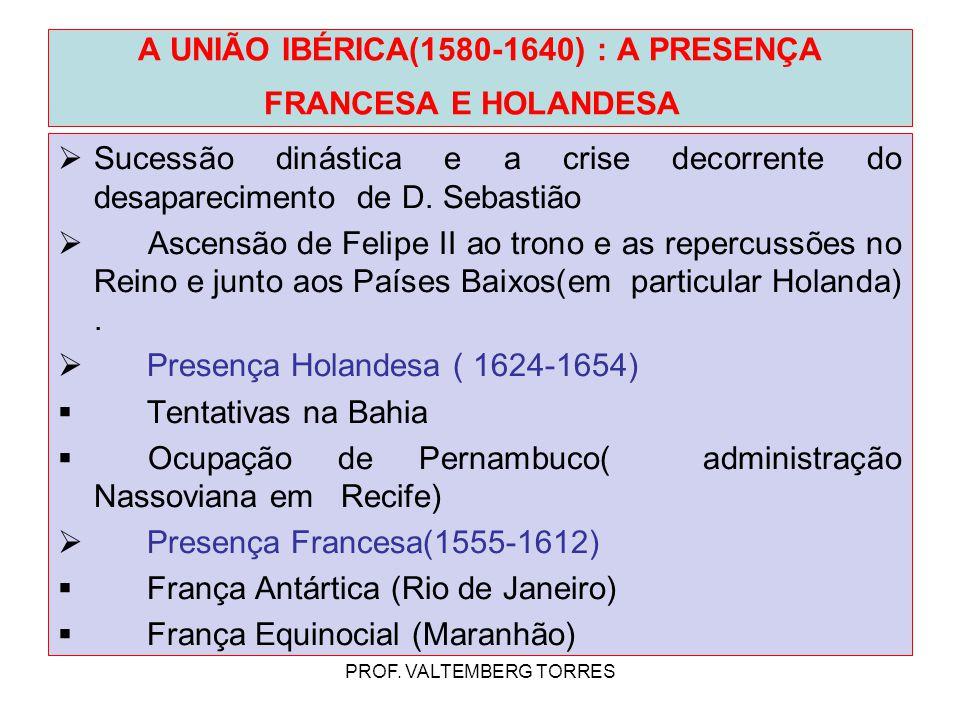 A UNIÃO IBÉRICA(1580-1640) : A PRESENÇA FRANCESA E HOLANDESA