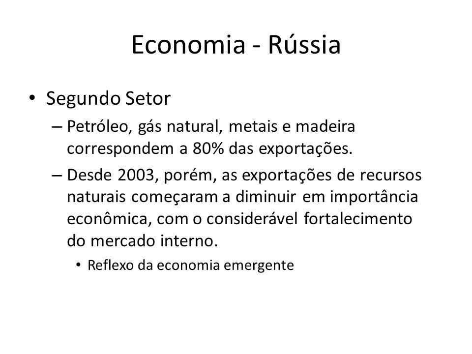 Economia - Rússia Segundo Setor