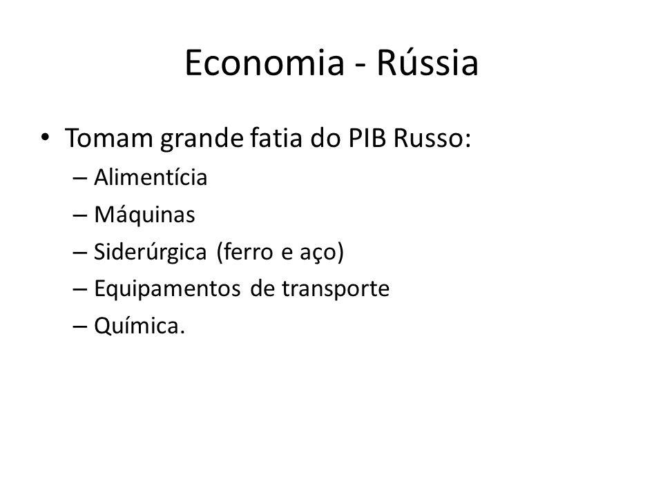 Economia - Rússia Tomam grande fatia do PIB Russo: Alimentícia