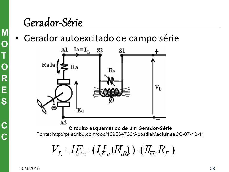 Circuito esquemático de um Gerador-Série