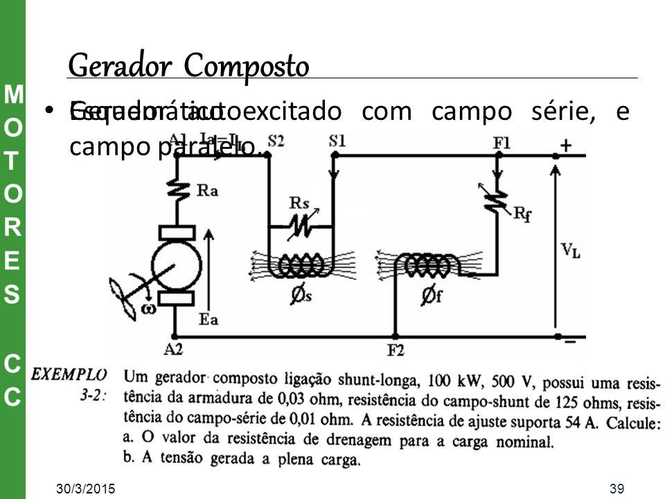 Circuito esquemático de um Gerador Composto