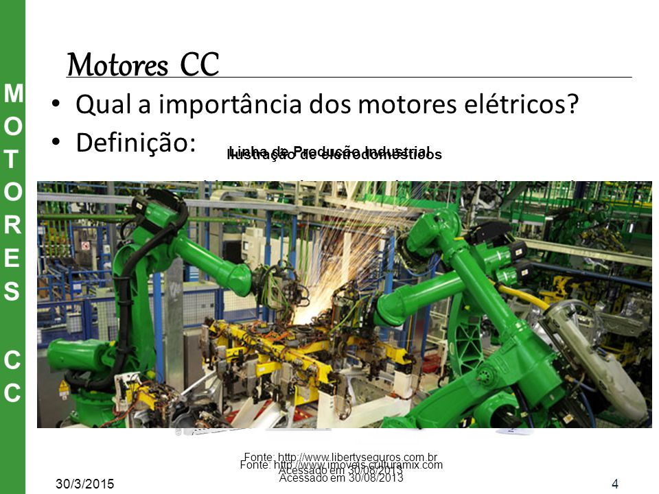 Linha de Produção Industrial Ilustração de eletrodomésticos