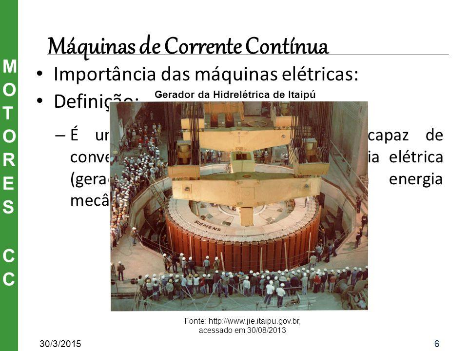 Gerador da Hidrelétrica de Itaipú
